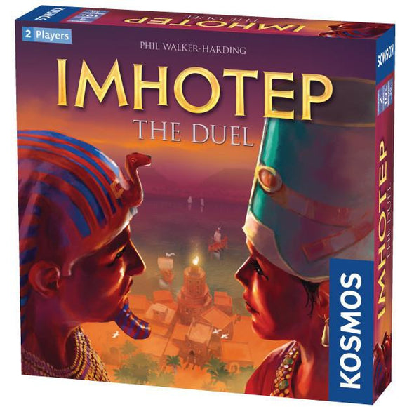 "Imhotep The Duel, Board Game, Age_8-10 years, Category_2 Player, Category_Family, Category_Strategy, Claus Stephan, Kosmos, Mechanic_Area Control, Mechanic_Modular Board, Mechanic_Set Collection, Michaela Kienle, Miguel Coimbra, Phil Walker-Harding, ""board games"", ""Hobby Games"""