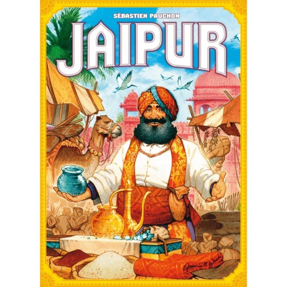 "Jaipur, Board Game, Age_8-10 years, Alexandre Roche, Category_2 Player, Category_Family, Mechanic_Drafting, Mechanic_Hand Management, Mechanic_Set Collection, Space Cowboys, Sébastien Pauchon, Vincent Dutrait, ""board games"", ""Hobby Games"", Hobby Games"