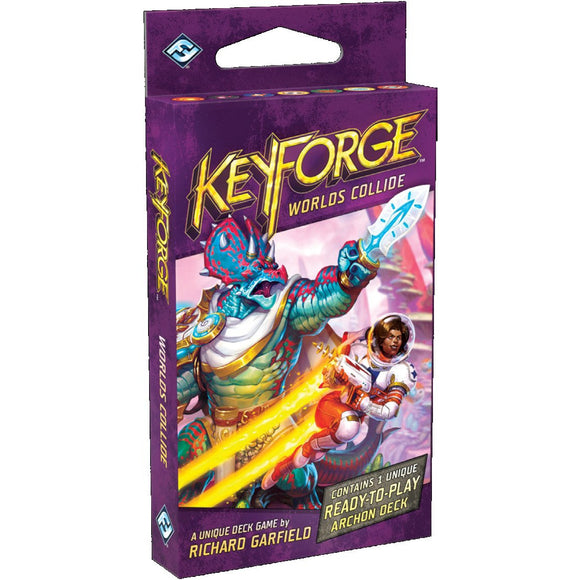 "KeyForge: Worlds Collide - Archon Deck, Card Game, Age_Teens, Category_Thematic, Fantasy Flight, Keyforge, Mechanic_Hand Management, Mechanic_Take That, Richard Garfield, ""board games"", ""Hobby Games"""