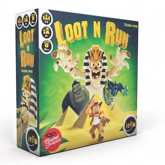 "Loot N Run, Card Game, Age_10+, Age_8+, Age_9+, Age_Adult, Age_Teen, Bruno Faidutti, Category_Family, Category_Party, iello, Mechanic_Bluffing, Mechanic_Press Your Luck, ""board games"", ""Hobby Games"""