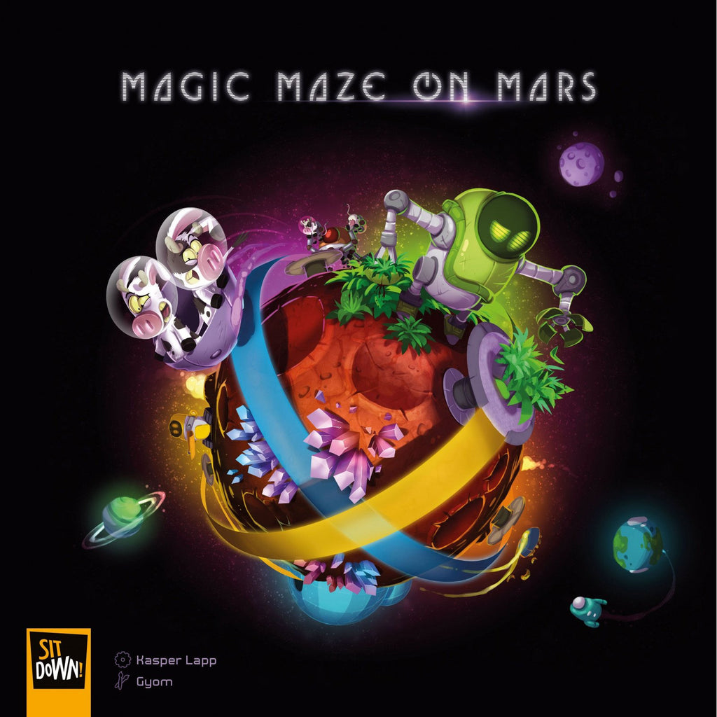"Magic Maze on Mars, Board Game, Age_8-10 years, Category_Family, Kasper Lapp, Mechanic_Exploration, Mechanic_Modular Board, Mechanic_Variable Player Powers, ""board games"", ""Hobby Games"", Hobby Games"