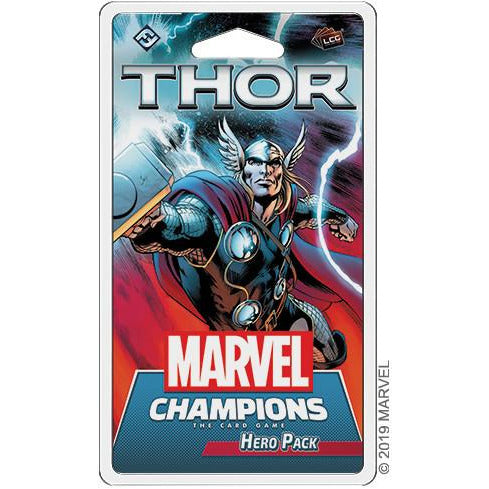 "Marvel Champions: Thor, Board Game, Age_Teens, Asmodee, Category_Deck Building, Category_Expansion, Category_Solo, Marvel, Mechanic_Cooperative, Mechanic_Deck Building, Mechanic_Variable Player Powers, Michael Boggs, Nate French, ""board games"", ""Hobby Games"", Hobby Games"