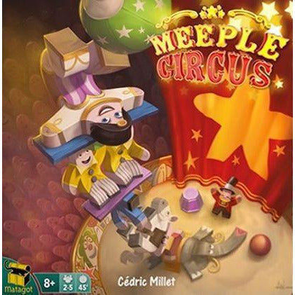 "Meeple Circus, Board Game, Age_8-10 years, Angelina Costamagna, Animals, Category_Family, Category_Party, Cédric Millet, Matagot, Mathieu Leyssenne, Mechanic_Dexterity, Mechanic_Drafting, Mechanic_Pattern Building, Mechanic_Press Your Luck, Sabrina Tobal, ""board games"", ""Hobby Games"", Hobby Games"
