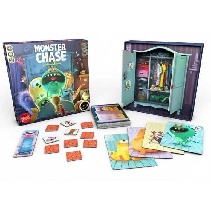 "Monster Chase, Board Game, Age_Preschool, Antoine Bauza, Category_Childrens, Category_Cooperative, Category_Solo, iello, Mechanic_Cooperative, Mechanic_Memory, ""board games"", ""Hobby Games"", Hobby Games"