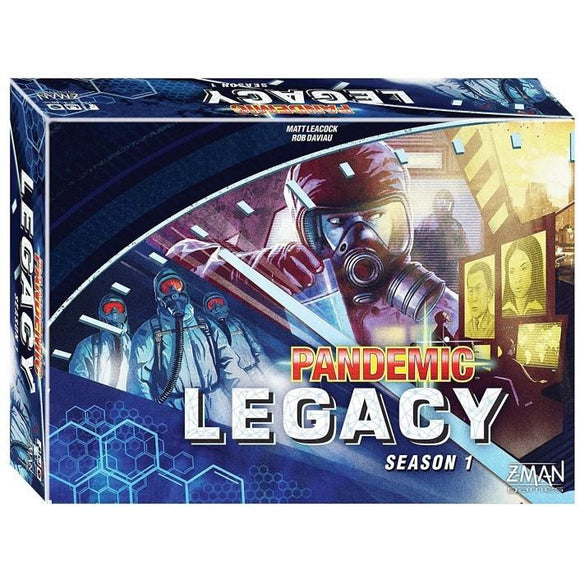 "Pandemic Legacy Season 1 (Blue Edition), Board Game, Age_Adult, Age_Teen, Category_Cooperative, Category_Strategy, Category_Thematic, Matt Leacock, Mechanic_Cooperative, Mechanic_Hand Management, Mechanic_Legacy, Mechanic_Set Collection, Mechanic_Trading, Mechanic_Variable Player Powers, Pandemic, ""board games"", ""Hobby Games"""