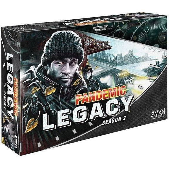 "Pandemic Legacy Season 2 (Black Edition), Board Game, Age_Adult, Age_Teen, Category_Cooperative, Category_Strategy, Category_Thematic, Matt Leacock, Mechanic_Cooperative, Mechanic_Hand Management, Mechanic_Legacy, Mechanic_Set Collection, Mechanic_Trading, Mechanic_Variable Player Powers, Pandemic, ""board games"", ""Hobby Games"""