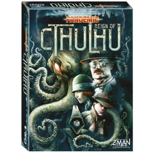 "Pandemic Reign of Cthulhu, Board Game, Age_Teens, Category_Cooperative, Category_Family, Category_Strategy, Matt Leacock, Mechanic_Cooperative, Mechanic_Hand Management, Mechanic_Set Collection, Mechanic_Trading, Mechanic_Variable Player Powers, Pandemic, ""board games"", ""Hobby Games"", Hobby Games"