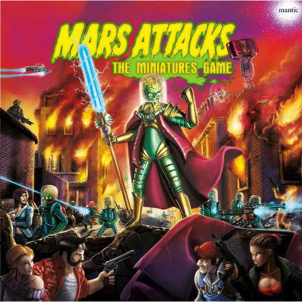 "Mars Attacks: The Miniatures Game, Board Game, Age_Teens, Category_2 Player, Category_Pop Culture, Category_Wargame, Jake Thornton, Mantic Games, Mechanic_Dice Rolling, Mechanic_Hand Management, ""board games"", ""Hobby Games"", Hobby Games"