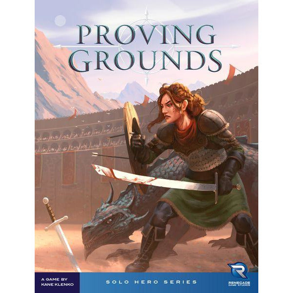 "Proving Grounds, Board Game, Age_8-10 years, Category_Solo, Category_Strategy, Kane Klenko, Mechanic_Dice Rolling, Mechanic_Real Time, Renegade Game Studios, ""board games"", ""Hobby Games"", Hobby Games"