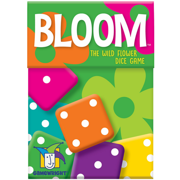 "Bloom, Dice Game, Age_8-10 years, Category_Family, Gamewright, Mechanic_Dice Rolling, Mechanic_Press Your Luck, Mechanic_Roll and Write, Wouter van Strien, ""board games"", ""Hobby Games"""