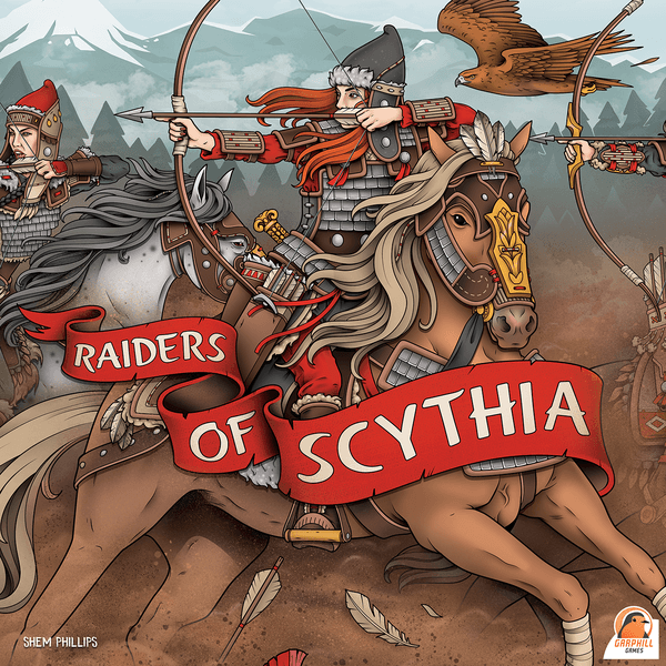 "Raiders of Scythia Deluxe Edition, Board Game, Age_Teens, Category_Strategy, Garphill Games, Mechanic_Hand Management, Mechanic_Set Collection, Mechanic_Variable Player Powers, Mechanic_Worker Placement, New Zealand, Shem Phillips, ""board games"", ""Hobby Games"", Hobby Games"