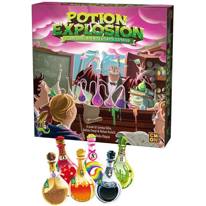 "Potion Explosion 2nd Edition, Board Game, Age_Teens, Category_Family, Mechanic_Pattern Recognition, Mechanic_Set Collection, Mechanic_Take That, ""board games"", ""Hobby Games"", Hobby Games"