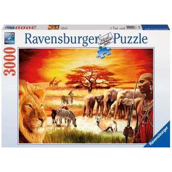 "Proud Massai - 3000 Pieces, Puzzle, Brand_Ravensburger, Category_Puzzle, Pieces_3000, Theme_Animals, ""board games"", ""Hobby Games"", Hobby Games"