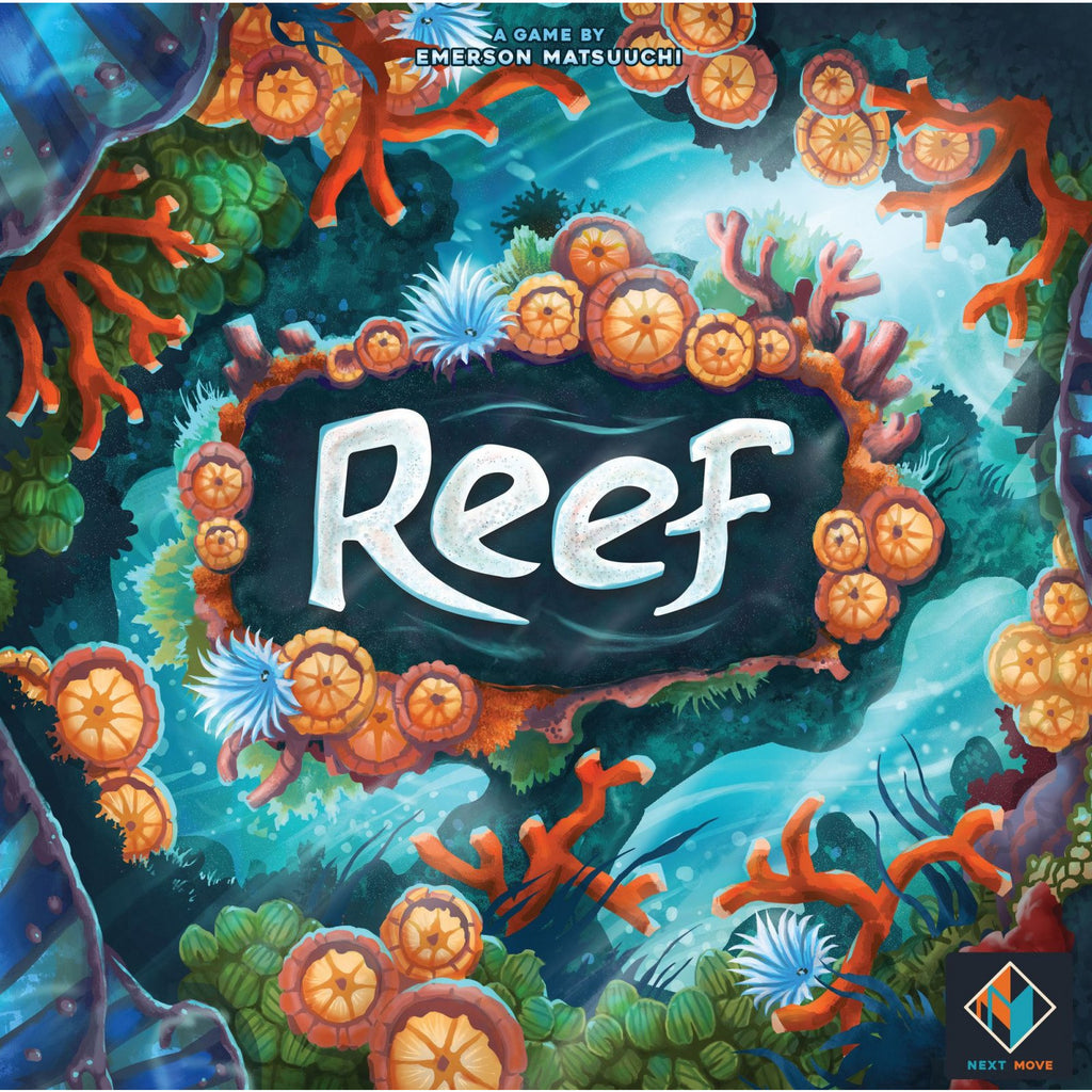 "Reef, Board Game, Age_8-10 years, Category_Abstract, Category_Family, Emerson Matsuuchi, Mechanic_Hand Management, Mechanic_Pattern Building, ""board games"", ""Hobby Games"", Hobby Games"