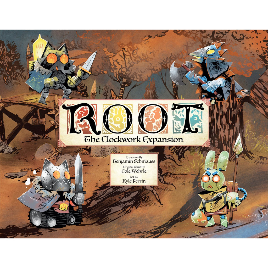 "Root: The Clockwork Expansion, Board Game, Age_8-10 years, Category_Expansion, Category_Solo, Category_Strategy, Category_Wargame, Mechanic_Area Control, Mechanic_Dice Rolling, Mechanic_Hand Management, Mechanic_Variable Player Powers, ""board games"", ""Hobby Games"", Hobby Games"