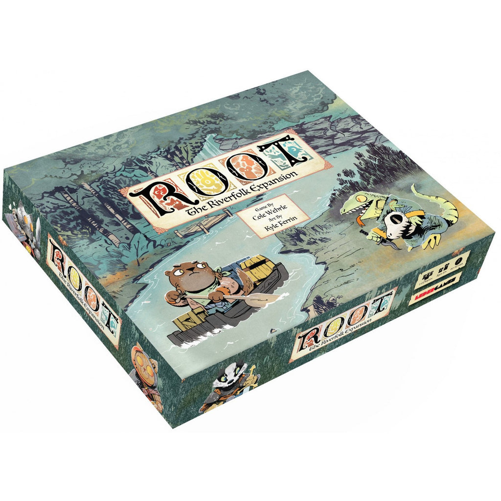 "Root: The Riverfolk Expansion, Board Game, Age_8-10 years, Category_Expansion, Category_Strategy, Category_Wargame, Cole Wehrle, Kyle Ferrin, Leder Games, Mechanic_Area Control, Mechanic_Dice Rolling, Mechanic_Hand Management, Mechanic_Variable Player Powers, ""board games"", ""Hobby Games"", Hobby Games"