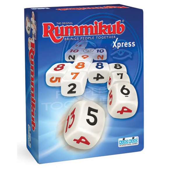 "Rummikub - Xpress, Dice Game, Age_10+, Age_8+, Age_9+, Age_Adult, Age_Teen, Category_Abstract, Category_Family, Category_Solo, Mechanic_Dice Rolling, Mechanic_Set Collection, Rummikub, ""board games"", ""Hobby Games"""