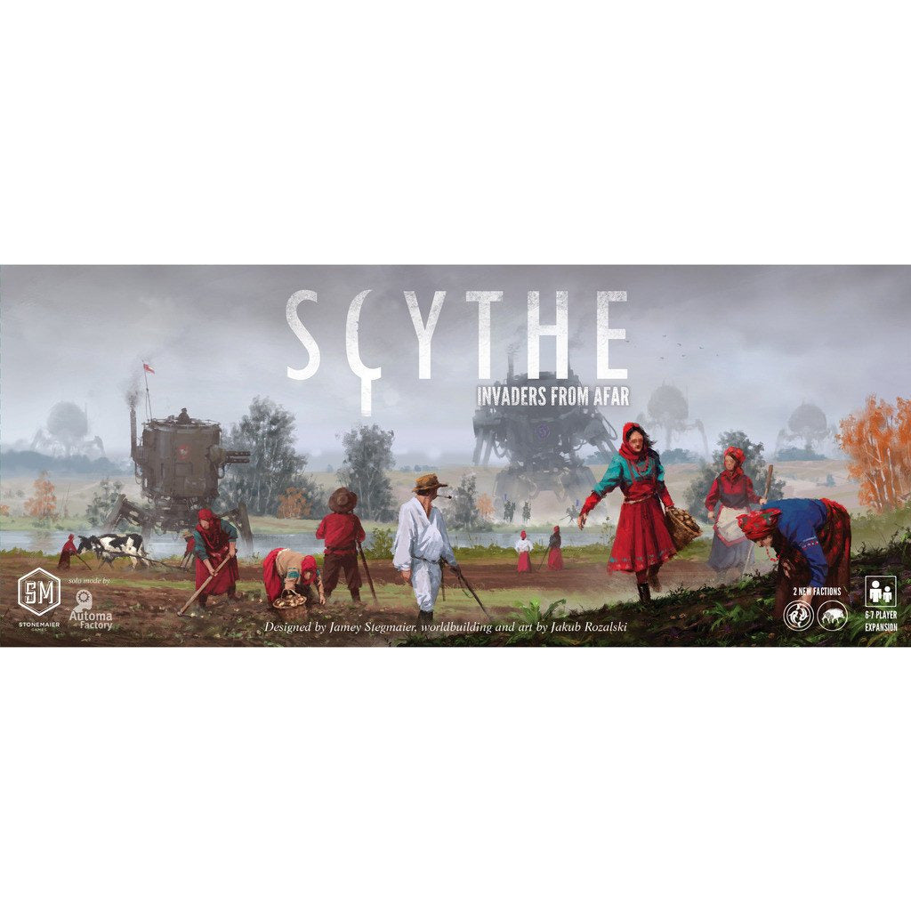 "Scythe Invaders from Afar, Board Game, Age_Teens, Category_Expansion, Category_Strategy, Jamey Stegmaier, Mechanic_Area Control, ""board games"", ""Hobby Games"", Hobby Games"