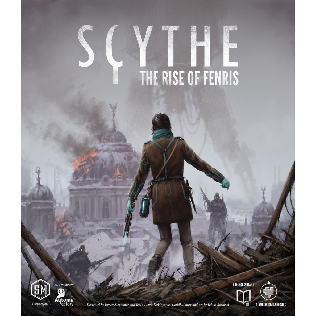 "Scythe: The Rise of Fenris, Board Game, Age_Teens, Category_Expansion, Category_Solo, Category_Strategy, Jamey Stegmaier, Mechanic_Area Control, Mechanic_Campaign, Mechanic_Variable Player Powers, Ryan Lopez DeVinaspre, Scythe, ""board games"", ""Hobby Games"", Hobby Games"