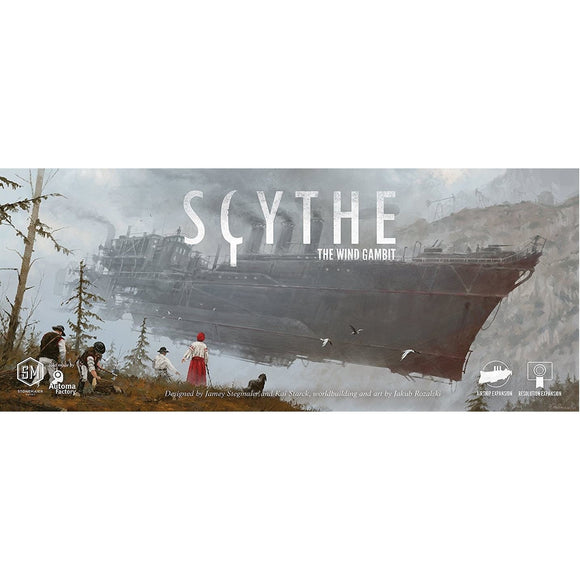 "Scythe: The Wind Gambit, Board Game, Age_Adult, Age_Teen, Category_Expansion, Category_Solo, Category_Strategy, Jamey Stegmaier, Mechanic_Area Control, Mechanic_Campaign, Mechanic_Variable Player Powers, Ryan Lopez DeVinaspre, Scythe, ""board games"", ""Hobby Games"""