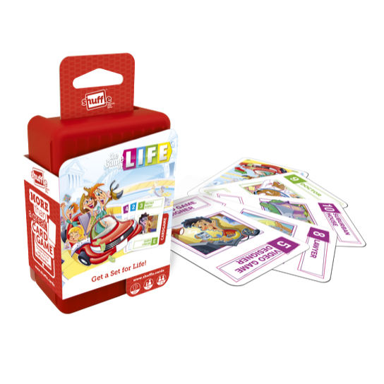 "Shuffle The Game of Life, Card Game, Age_10+, Age_7+, Age_8+, Age_9+, Age_Adult, Age_Teen, Hasbro, Shuffle, ""board games"", ""Hobby Games"""