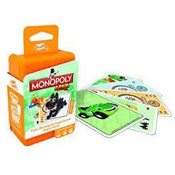 "Shuffle Monopoly Junior Card Game, Card Game, Age_10+, Age_4+, Age_5+, Age_6+, Age_7+, Age_8+, Age_9+, Age_Adult, Age_Teen, Hasbro, Monopoly, Shuffle, ""board games"", ""Hobby Games"""