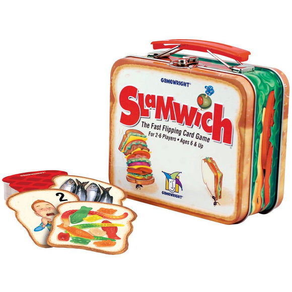 "Slamwich - Collectors Edition Tin, Card Game, Age_10+, Age_6+, Age_7+, Age_8+, Age_9+, Age_Adult, Age_Teen, Ann Stambler, Category_Childrens, Gamewright, Mechanic_Pattern Recognition, Monty Stambler, ""board games"", ""Hobby Games"""