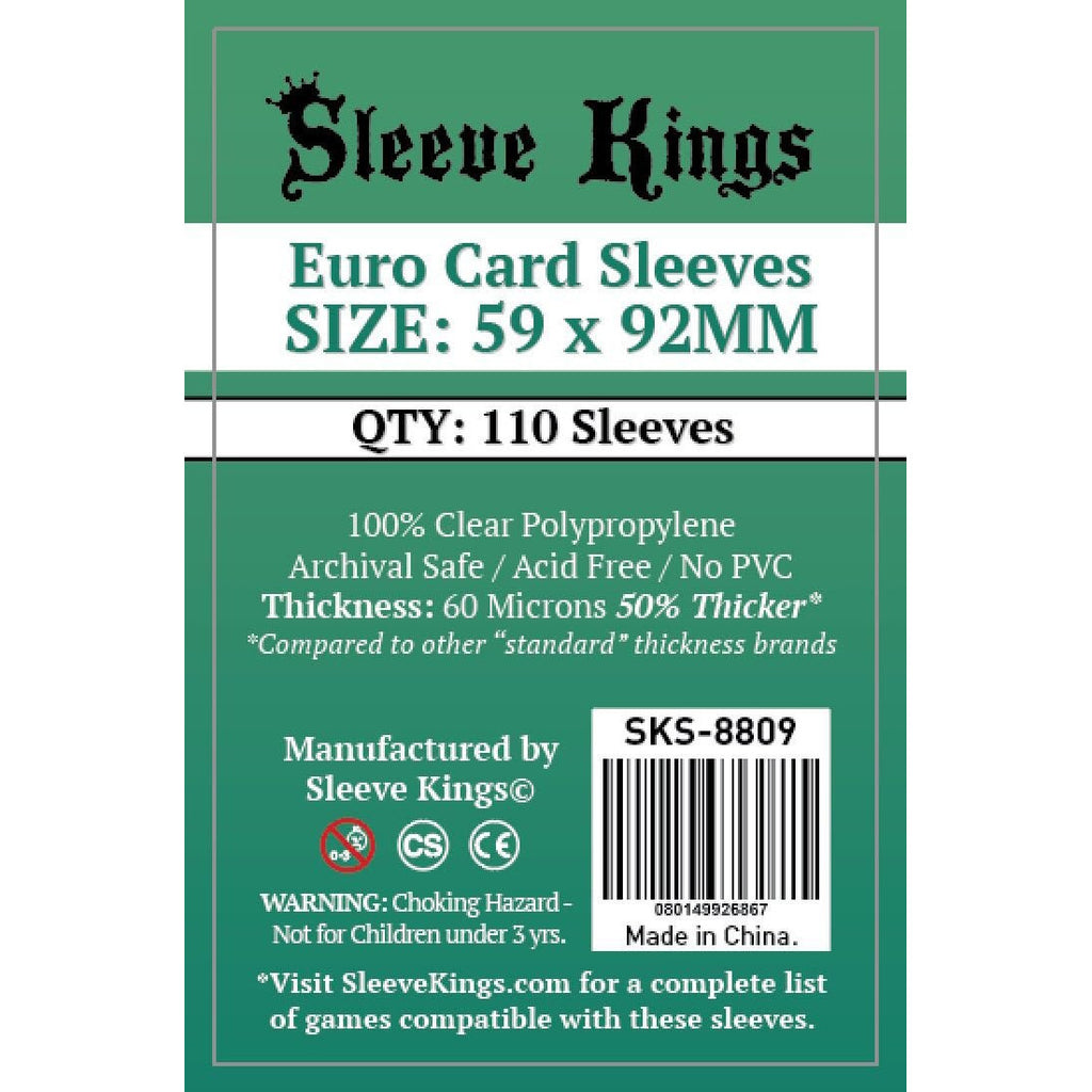 "Sleeve Kings Board Game Sleeves Euro Game (59mm x 92mm) - SKS-8809, Accessories, Category_Accessory, Category_Card Sleeves, Sleeve Kings, ""board games"", ""Hobby Games"", Hobby Games"
