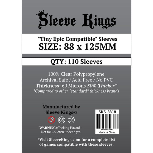 "Sleeve Kings Board Game Sleeves ""Tiny Epic Compatible"" (88mm x 125mm) - SKS-8818, Accessories, Category_Accessory, Category_Card Sleeves, Sleeve Kings, ""board games"", ""Hobby Games"""