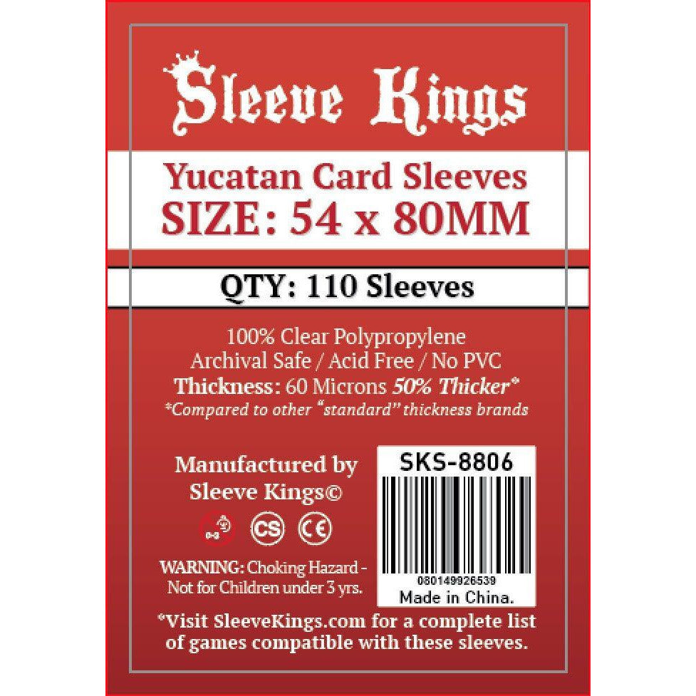 "Sleeve Kings Board Game Sleeves (54mm x 80mm) - SKS-8806, Accessories, Category_Accessory, Category_Card Sleeves, Sleeve Kings, ""board games"", ""Hobby Games"", Hobby Games"