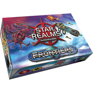 "Star Realms - Frontiers, Card Game, Age_Adult, Age_Teen, Category_2 Player, Category_Cooperative, Category_Deck Building, Category_Solo, Category_Strategy, Darwin Kastle, Mechanic_Cooperative, Mechanic_Deck Building, Mechanic_Drafting, Mechanic_Hand Management, Mechanic_Player Elimination, Mechanic_Take That, Robert Dougherty, Star Realms, ""board games"", ""Hobby Games"""