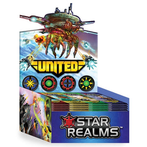 "Star Realms United - Booster pack, Card Game, Age_Adult, Age_Teen, Category_2 Player, Category_Deck Building, Category_Expansion, Category_Strategy, Darwin Kastle, Mechanic_Deck Building, Mechanic_Drafting, Mechanic_Take That, Robert Dougherty, Star Realms, ""board games"", ""Hobby Games"""