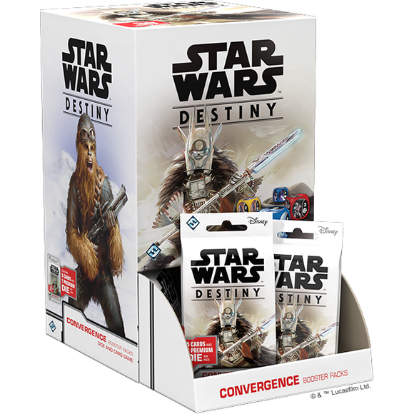 "Star Wars Destiny Convergence Booster, Dice Game, Age_10+, Age_Adult, Age_Teen, Category_2 Player, Category_Expansion, Category_Strategy, Corey Konieczka, Fantasy Flight, Lukas Litzsinger, Mechanic_Dice Rolling, Mechanic_Hand Management, Mechanic_Variable Player Powers, Star Wars, ""board games"", ""Hobby Games"""