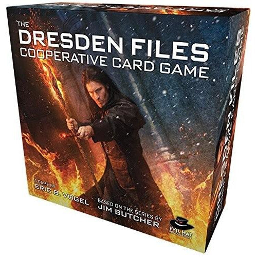 "The Dresden Files Cooperative Card Game, Board Game, Age_10+, Age_Adult, Age_Teen, Card Game, Category_Cooperative, Category_Solo, Category_Thematic, Mechanic_Dice Rolling, Mechanic_Hand Management, Mechanic_Variable Player Powers, ""board games"", ""Hobby Games"""