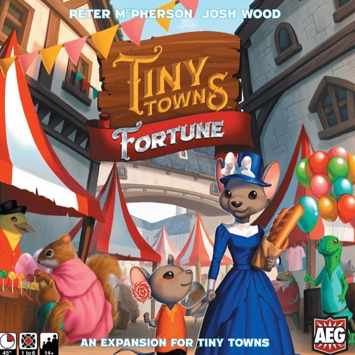 "Tiny Towns - Fortune Expansion, Board Game, AEG, Age_Teens, Category_Abstract, Category_Expansion, Category_Solo, Mechanic_Pattern Building, Peter McPherson, ""board games"", ""Hobby Games"", Hobby Games"