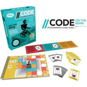"CODE: On The Brink Game, Board Game, Age_8-10 years, Category_Educational, Category_Solo, Mechanic_Logic Puzzle, Mechanic_Programming, ThinkFun, ""board games"", ""Hobby Games"", Hobby Games"