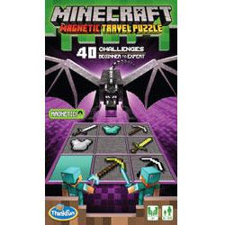 "Minecraft Magnetic Travel Puzzle, Board Game, Age_8-10 years, Category_Educational, Category_Solo, Mechanic_Exploration, Mechanic_Logic Puzzle, Minecraft, ThinkFun, ""board games"", ""Hobby Games"", Hobby Games"