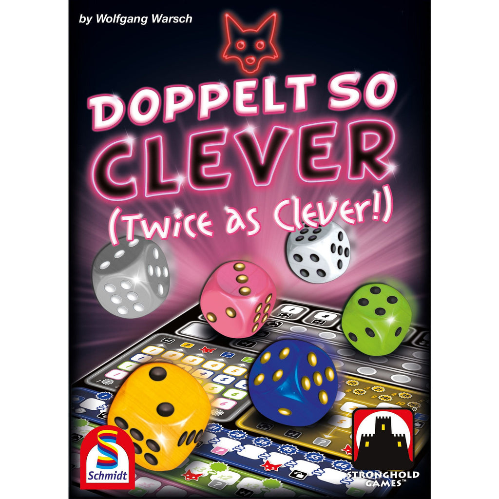 "Doppelt So Clever (Twice As Clever), Dice Game, Age_8-10 years, Category_Family, Category_Solo, Leon Schiffer, Mechanic_Dice Rolling, Mechanic_Roll and Write, Stronghold Games, Wolfgang Warsch, ""board games"", ""Hobby Games"", Hobby Games"