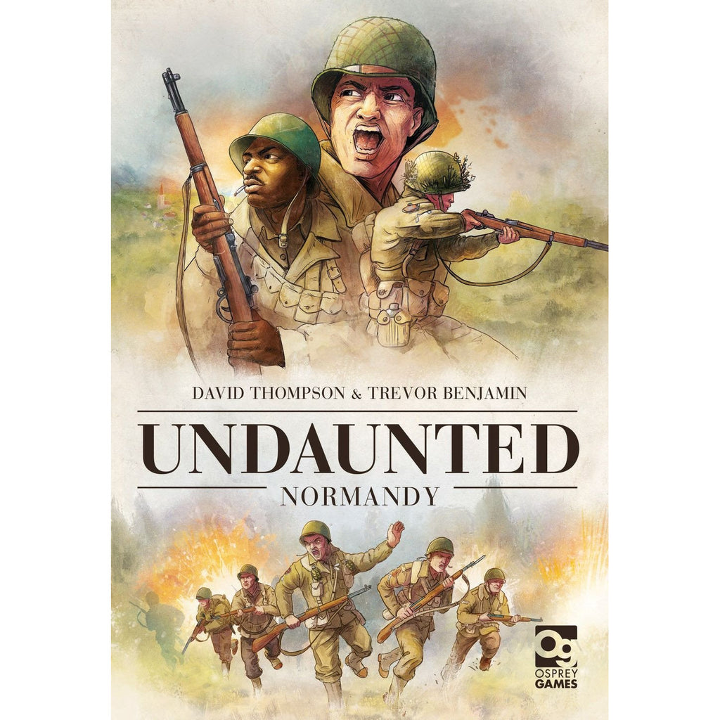 "Undaunted Normandy, Board Game, Age_Teens, Category_Thematic, Category_Wargame, David Thompson, Mechanic_Deck Building, Mechanic_Dice Rolling, Trevor Benjamin, ""board games"", ""Hobby Games"""