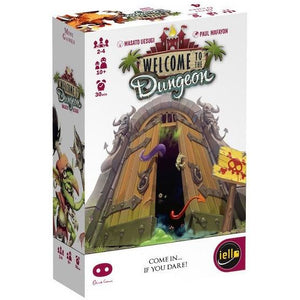 "Welcome to the Dungeon, Card Game, Age_10+, Age_Adult, Age_Teen, Category_Family, Category_Party, iello, Mechanic_Memory, Mechanic_Player Elimination, Mechanic_Press Your Luck, ""board games"", ""Hobby Games"""