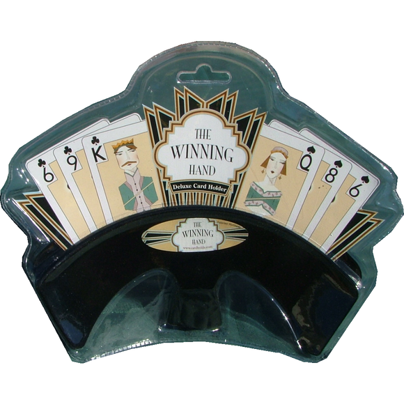 "Winning Hand Card Holder - Black, Accessories, Age_10+, Age_3+, Age_4+, Age_5+, Age_6+, Age_7+, Age_8+, Age_9+, Age_Adult, Age_Teen, Card Holder, Category_Accessory, ""board games"", ""Hobby Games"""