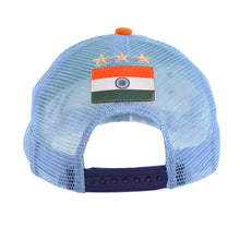 Load image into Gallery viewer, Bharat Army Light Blue & White Trucker Cap
