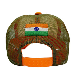 Bharat Army Orange & White Trucker Cap (PRE ORDER - DELIVERY MID MAY)
