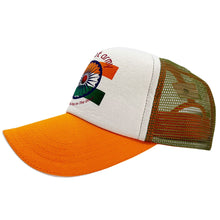 Load image into Gallery viewer, Bharat Army Orange & White Trucker Cap