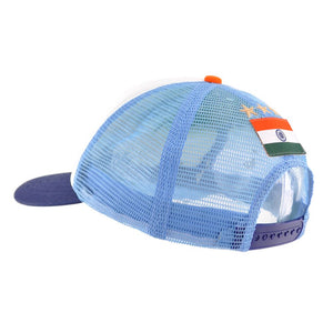 Bharat Army Light Blue & White Trucker Cap
