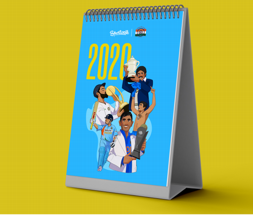2020 CRICKET CALENDAR BY THE BHARAT ARMY AND SPORTWALK