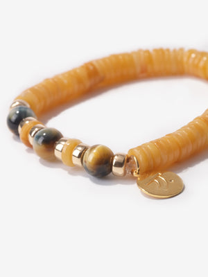 Yellow Jade Courage Bracelet