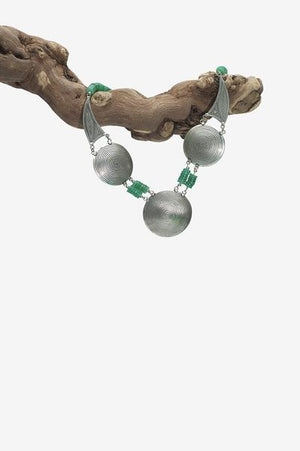 Desert Palm - Green Jade Berber Necklace | Jada Jo