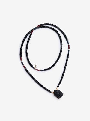 Black Onyx Buddha Necklace