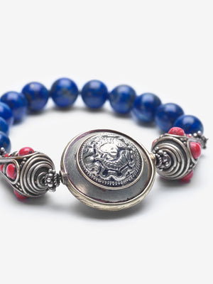 Shield - Blue Lapis Bracelet
